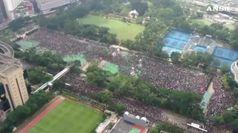 Oltre un milione di persone in marcia ad Hong Kong