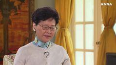 Pechino appoggia governatrice Hong Kong