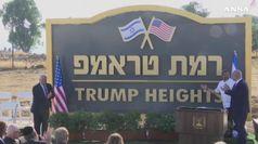 Israele mette la prima pietra di 'Trump city'
