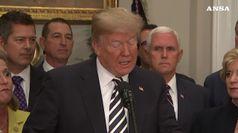 Trump terra' discorso nella zona demilitarizzata