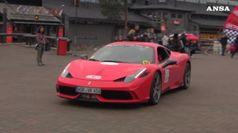 Trenta Ferrari al Circolo Polare Artico, e' record