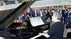 Fiumicino: concerto a sorpresa maestro Pappano e Piovano