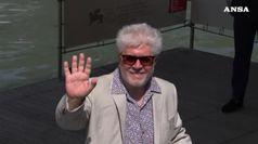 Il giorno di Almodovar, il regista e' arrivato a Venezia