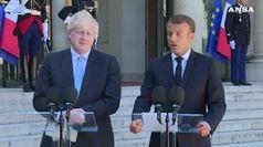 Merkel e Macron aprono, ora Johnson vuole l'accordo