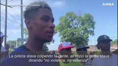 Messico, scontri tra Guardia Nazionale e migranti a Tapachula