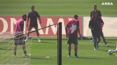 Champions, la Juve in campo per prepararsi contro l'Atletico Madrid