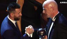 La Fifa incorona Messi miglior giocatore, Ronaldo diserta
