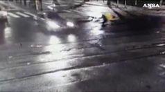Rider miracolosamente illeso dopo un incidente