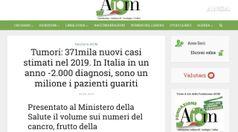 Tumori, per la prima volta in calo nuovi casi in Italia