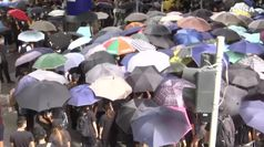 Studenti cinesi solidali con attivisti di Hong Kong