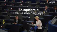 La squadra di Ursula von der Leyen