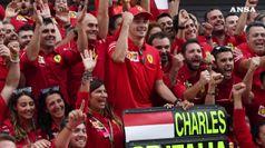 Monza e' una marea rossa, trionfo Leclerc spezza digiuno