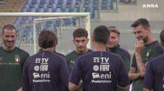 Italia-Grecia, gli Azzurri si allenano all'Olimpico alla vigilia del match
