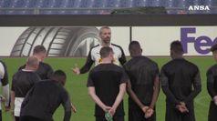 Europa League, il Borussia Monchengladbach si allena all'Olimpico