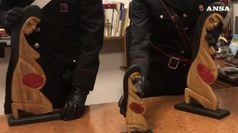 Statuette rubate in chiesa e gettate nel Tevere, recuperate da carabinieri