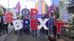 Brexit: le proteste degli inglesi a Bruxelles