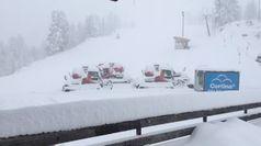 Cortina, la neve imbianca il Faloria a 2100 metri di quota