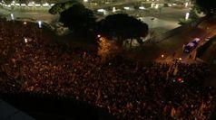Clasico, fuori dal Camp Nou le proteste degli indipendentisti catalani