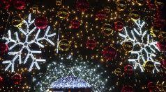 A Venezia il Natale e' diffuso, il sindaco accende l'albero a Mestre