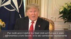 Nato, Trump a Macron: