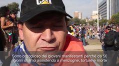 Cile, scontri nel 50esimo giorno di proteste