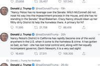 Trump attacca la California (e Pelosi) sui senzatetto