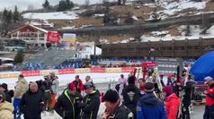 Val Gardena, la nazionale di sci in pista dopo il fohn