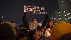 Aereo caduto in Iran, commozione alla veglia a Toronto