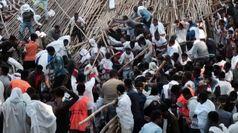 Etiopia, crolla tetto durante un festival: 10 morti