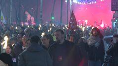 Marsiglia, fiaccolata contro la riforma delle pensioni