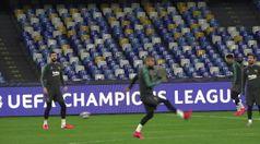 Napoli, il Barcellona si allena al San Paolo