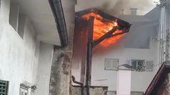 Incendio in centro storico a Bolzano