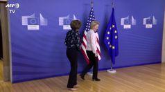 Ue, von der Leyen accoglie Nancy Pelosi a Bruxelles