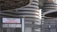 Coronavirus, Milan-Genoa a porte chiuse: San Siro deserto