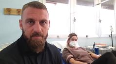 Coronavirus, Daniele De Rossi dona il sangue a Roma