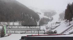 La silenziosa nevicata di fine stagione