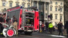 Incendio al Castello di Berlino: le immagini dei soccorsi