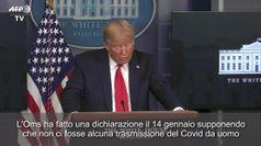 Coronavirus, Trump contro l'Oms:
