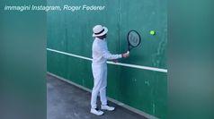 #tennisathome, sfida a distanza tra Roger e Novak