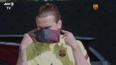 Liga, il Barcellona scende in campo con le mascherine