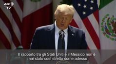 Trump incontra il presidente messicano: