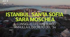 Istanbul, Santa Sofia sara' moschea