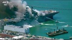 Usa, incendio su una nave della marina militare a San Diego