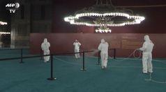 Istanbul, operazioni di sanificazione nella nuova moschea di Santa Sofia