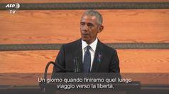 Usa: Obama, Bush e Clinton ai funerali di John Lewis
