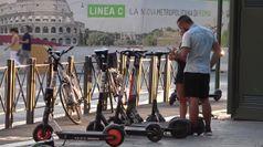 Dalle bici ai monopattini, lo sharing della capitale