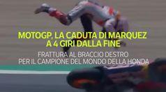 MotoGp, La caduta di Marquez a 4 giri dalla fine