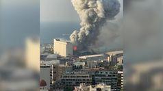Beirut, il momento dell'esplosione