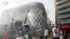 Beirut, incendio nell'edificio progettato dallo studio Hadid
