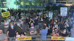 Coronavirus, a Tel Aviv comizio anti-lockdown